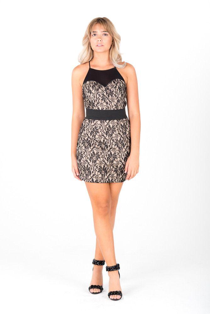 JESSICA - Black Lace Dress