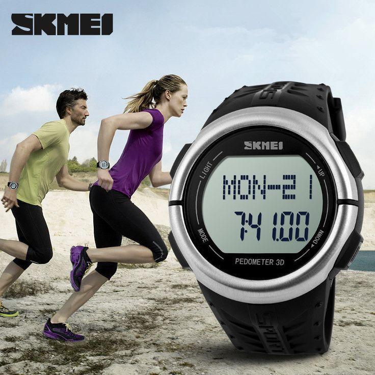 Часы женщины и мужчины люксовый бренд skmei многофункциональные из светодиодов цифровой шагомер спортивные часы relogio masculino кварцевые наручные часы reloj