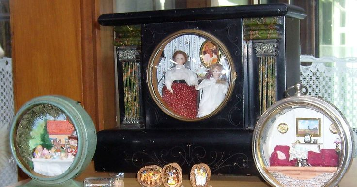 Fiona's antique clock scene dedicated to her great mother and grandmother
