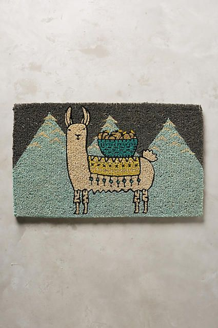 Anthropologie Mountain Llama Doormat