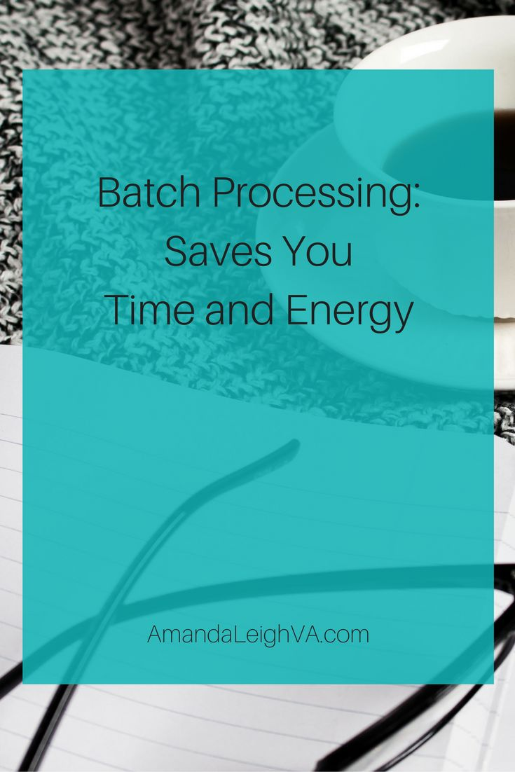 Batch processing. You may have heard to term, but do you use it? If you don't, you should! Batch processing is a time management tool where you group like tasks together. By doing this, completing …