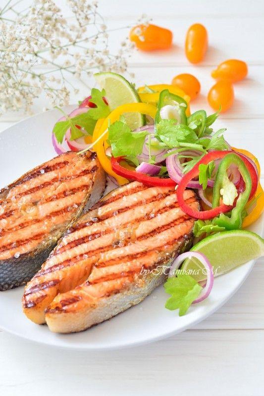 Вок-форель на гриле с весенним салатом. Вкусные праздничные рецепты для гриля, диетические и полезные рецепты в кулинарном блоге Татьяны М.