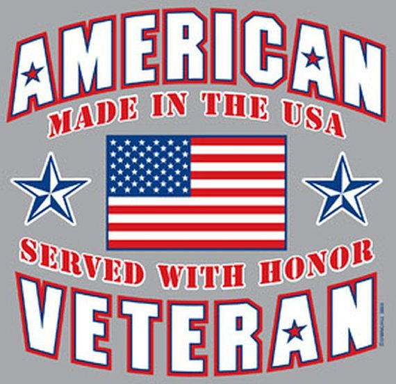 American Veteran Made In The USA Served With Honor Adult