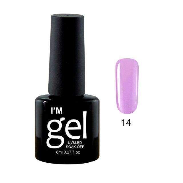 Paraness Lucky 29 Colors Choose Soak-Off Uv Nail Gel Polish Permanent Pure Color Nail Polish Long Lasting 8Ml Gel Varnish