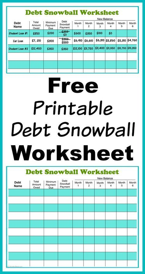 Free Printable Debt Snowball Worksheet- Perhaps the best way to pay - zero based budget spreadsheet template