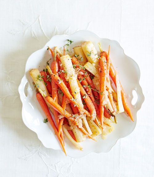 These OJ-braised veggies get a little flavor kick from crushed red pepper flakes—double the amount for even more oomph. No shallots? Half of a small onion also works. Get the recipe for Orange-Braised Carrots & Parsnips  - GoodHousekeeping.com