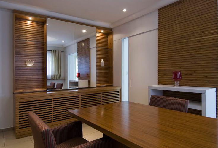 Painel De Tv Na Sala De Jantar ~ parede de madeira ripada  Pesquisa Google  Sala  Pinterest  Mesas