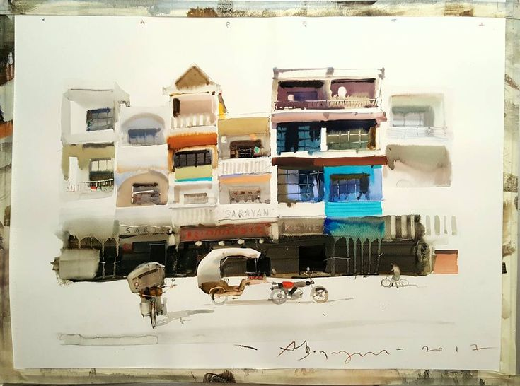 votsmush #phnompenh #coach #asia #travel #adventure #artist #art #watercolor #painting