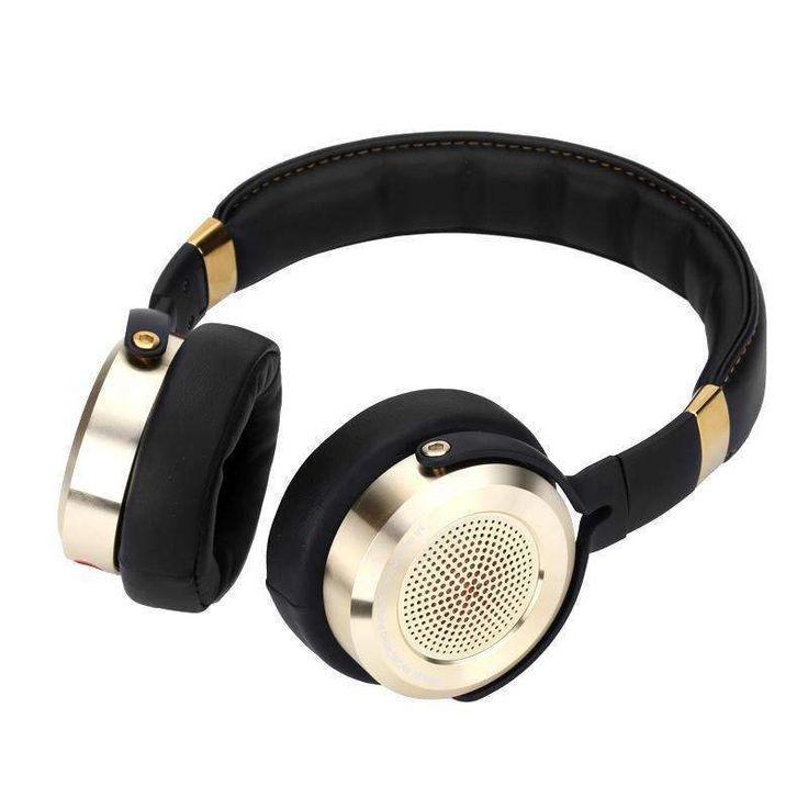 Wallmart.win Xiaomi Mi Hi Fi Headphones 50mm Diaphragm Gold Plated Jacks Knowles MEMS Microphone Foldable