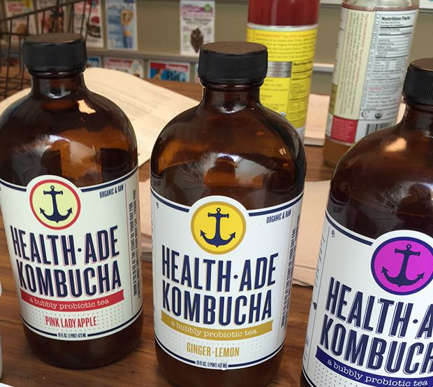"Health-ade pink lady apple & ginger-lemon were the best / #1 choices ( my personal fav is ""ONE"" brand - apple spice cider!!! Yummy!  10+Kombucha+Brands+You+Have+to+Try++http://www.eatclean.com/products/best-kombucha-brands"