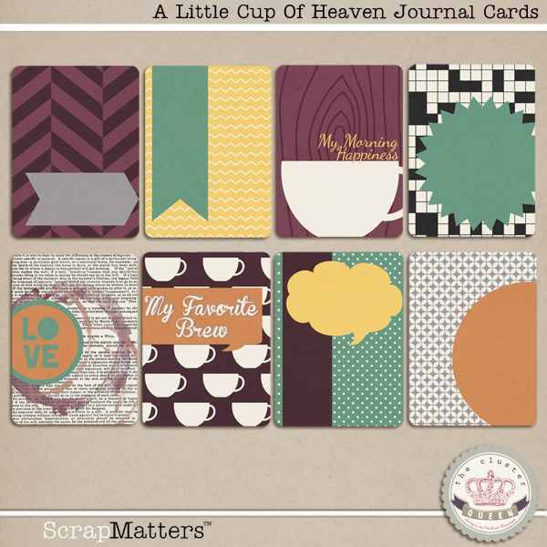 Quality DigiScrap Freebies: A Little Cut Of Heaven journal cards freebie from Cluster Queen Creations