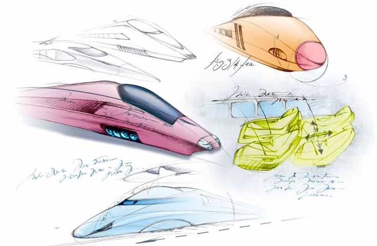 illustration concept car train futuriste Florence Gendre #illustration #design #conceptcar