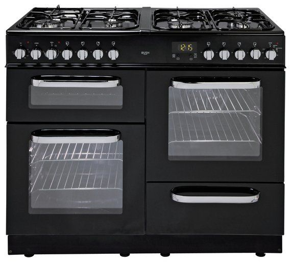 Buy Bush BCL100DFB Dual Fuel Range Cooker - Black at Argos.co.uk - Your Online Shop for Range cookers, Cooking, Large kitchen appliances, Home and garden.