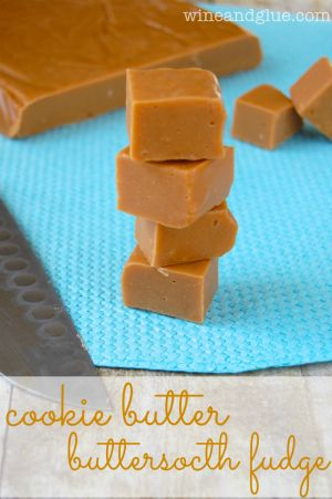 Cookie Butter Butterscotch Fudge! This fudge is so delicious and so easy that it is a must make for your holiday season!