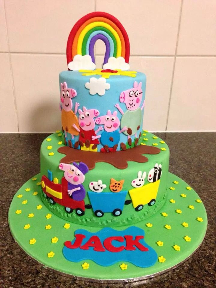 Pig Birthday Cake Images