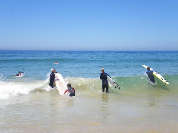 Going in - Nova Vaga Surfschool