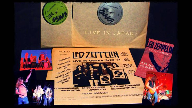 Led Zeppelin live in Osaka September 29th 1971 Full Concert