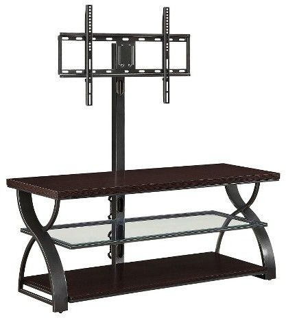 """Whalen Calico 3-in-1 TV Stand Gunmetal 54"""""""