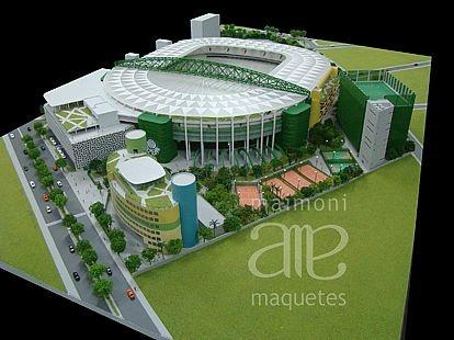 Maquete fisíca da Sociedade Esportiva Palmeiras, Estádio Palmeiras, Arena Palestra Itália.