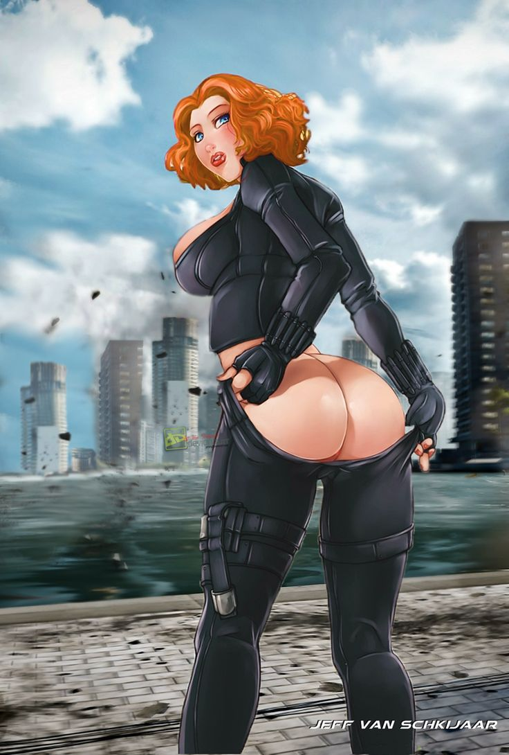 Ass black widow big