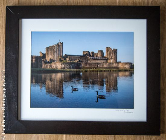 Caerphilly Castle and the Moon