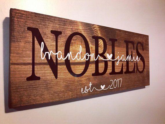 est. 2021 Couple Wooden Sign