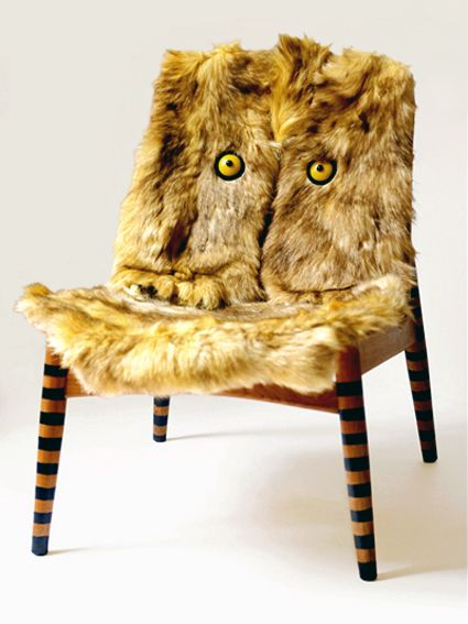 OWL - wood, fur