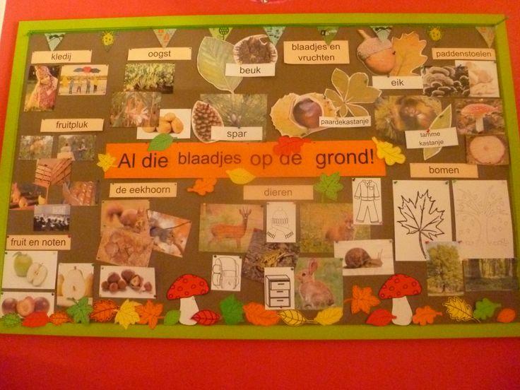 Een themabord rond het thema 'de herfst'