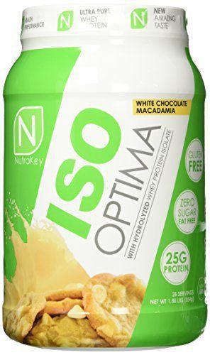 NutraKey ISO Optima White Chocolate Macadamia Nut Protein Supplements, 1.88 Pound //Price: $39.70 & FREE Shipping //     #hashtag1