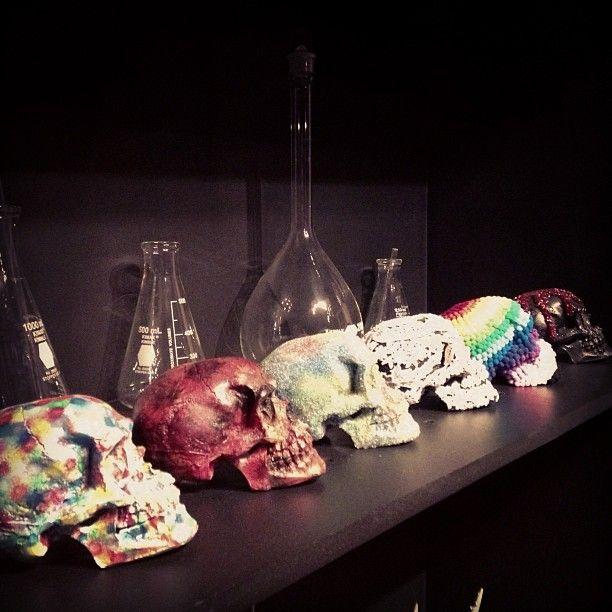 Colección cráneos mexicanos GIANFRANCO RENI.