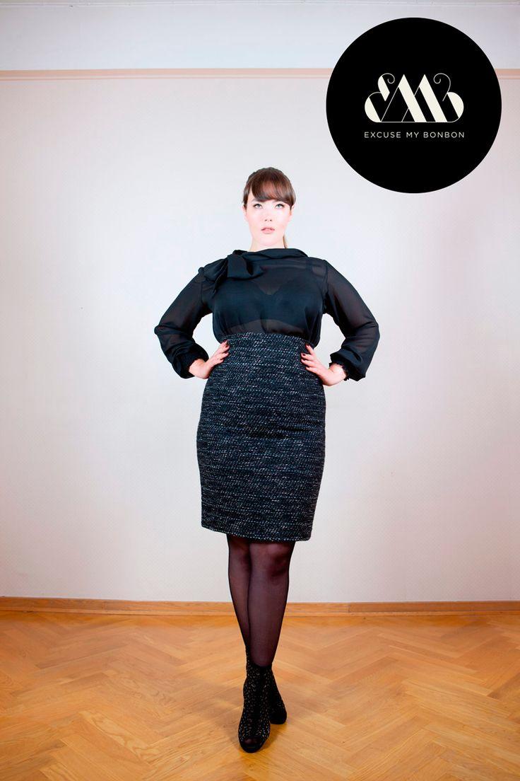 Anna Pencil Skirt & Olga Blouse Photo: Jeremy Barrois Make up: Janne Suono Model: Ninja Sarasalo