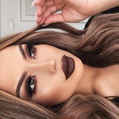 "Iluvsarahii KILLING this ""Dark & Sultry"" Look!! (*Click Pic for Makeup Details)  ♡♥♡♥♡♥  Gorgeous dark Lip"