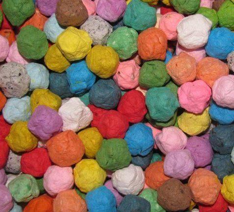 Seed Bomb Rainbow Assortment Wildflower Mix by Davita on Etsy, $6.00, make great wedding favors!