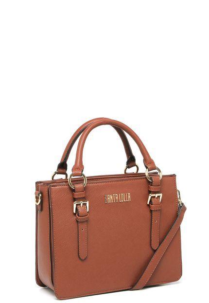 bb785a415 Bolsa Estruturada Santa Lolla Fivela Caramelo - Marca Santa Lolla