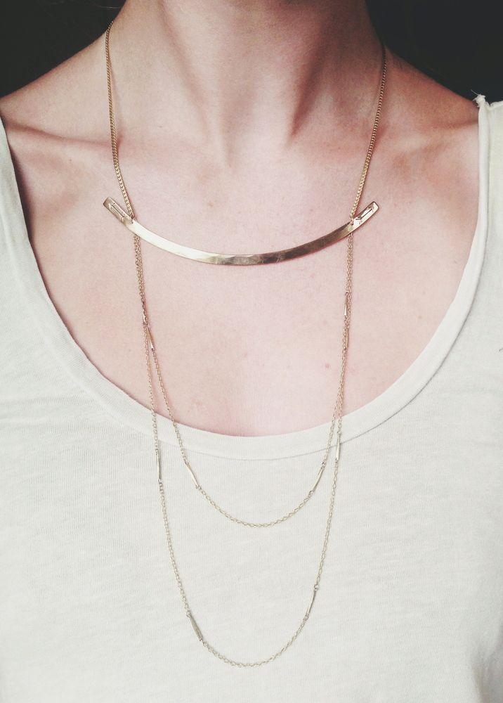 Opposing Arrows Necklace