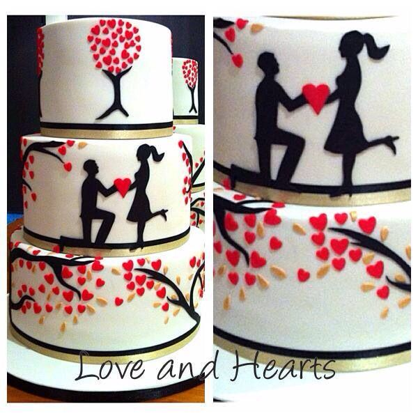 Silhouette lovers design...