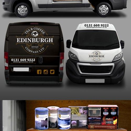 Design a show stopping Van Wrap for Edinburgh Tea and Coffee Co. Design by MasterWrap(F3D)