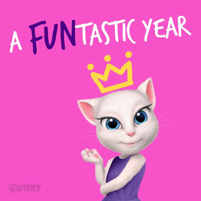 What a magical journey this year has been! Thank you for being part of it :* xo, Talking Angela #TalkingAngela #MyTalkingAngela #LittleKitties #celebration #1year #surprise #video #YouTube #awesome #excited #grateful #amazing #app #bestapp #game #bestgame