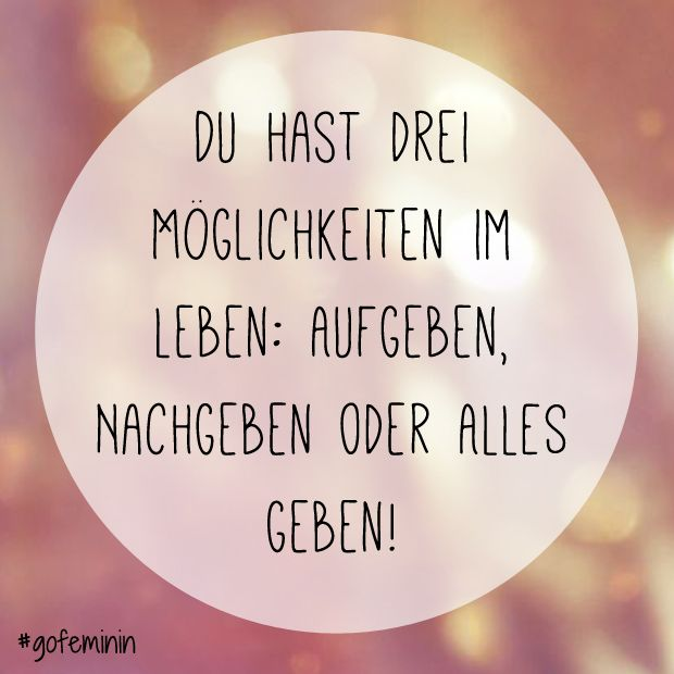 Noch mehr Sprüche zur Motivation auf www.gofeminin.de/wellness/album1157846/die-besten-motivationsspruche-fur-den-sport-0.html #quotes #fitspiration #motivation #fitness #inspiration #zitate