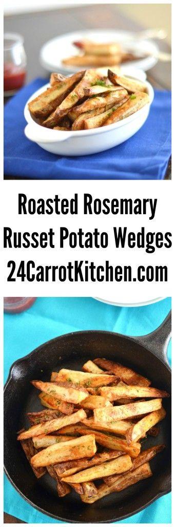 Roasted Rosemary Russet Potato Wedges | Recipe | Russet ...