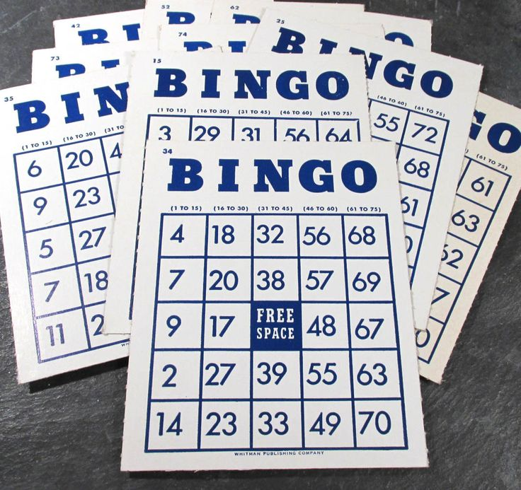 Bingo Cards VINTAGE BINGO Cards Ten (10) Bingo Cards Cardboard Vintage Bingo Cards Scrapbooking Collage Altered Art Game Supplies (N64) by punksrus on Etsy