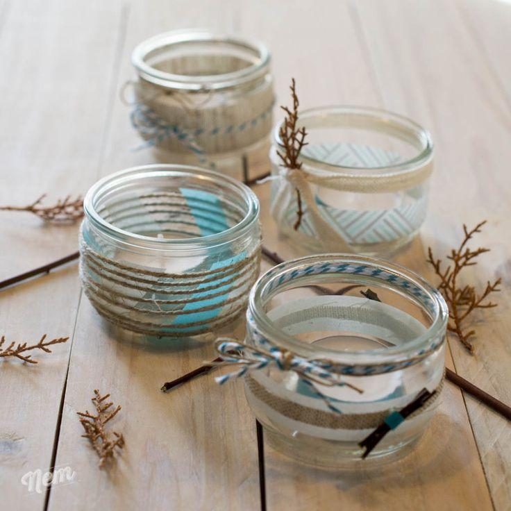diy photophore en verre sur mon blog pinterest photophore verre et diy. Black Bedroom Furniture Sets. Home Design Ideas