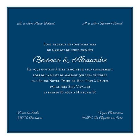 Faire-part de mariage Carré chic par Le Collectif pour l'Atelier Rosemood sur www.rosemood.fr  #atelierrosemood