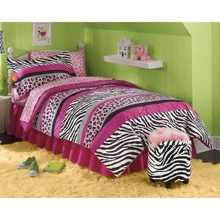 Queen of the Jungle 8-piece Bed in a Bag with Sheet Set - Free Shipping Today - Overstock.com - 19737054 - Mobile