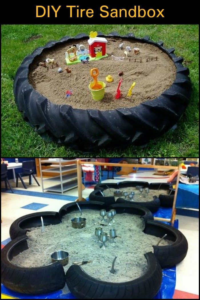 A Weekend Backyard Project With An Old Tractor Tire The Final Result Hours Of F In 2020 Diy Playground Backyard For Kids Backyard Projects
