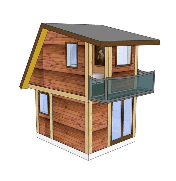 http://tinyhouseblog.com/tiny-house-concept/frontier-fortress-new-kind-tiny-house/   love the size and the upstairs balcony!