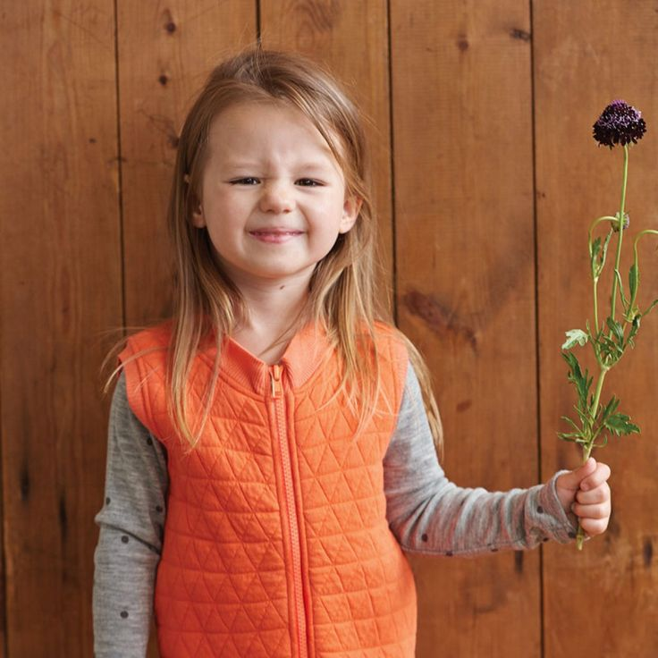 Organic Kid Nature Quilted Vest / Peach / Nature Baby