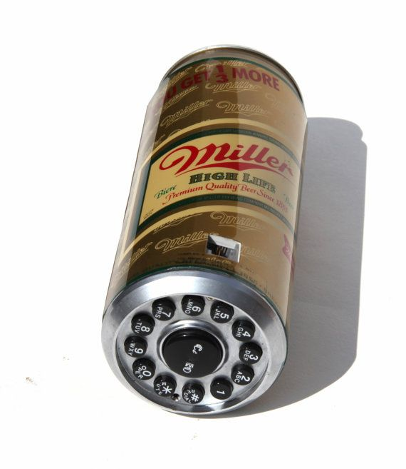 80s Miller High Life Novelty Beer Can Phone Corded Push Dial Telephone Analog Home Decor