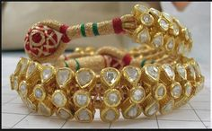 Rajputana poochi. rajasthani rajput jewellery. Pahuchi or pouchi bracelet.