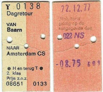 Groenegraf.nl: Treinkaartje uit het analoge tijdperk